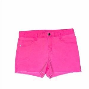 Justice Girls' Neon Pink Jean Shorts size 16 plus